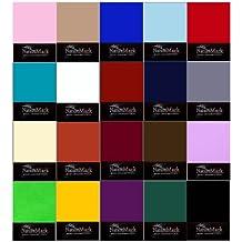 natural Mark sábana bajera ajustable en todos los tamaños y muchos colores, algodón, lila, 180x200 bis 200x200 cm