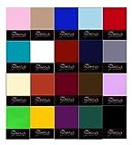 NatureMark Jersey Spannbettlaken in allen Größen und vielen Farben (weiss, 200x220 cm)