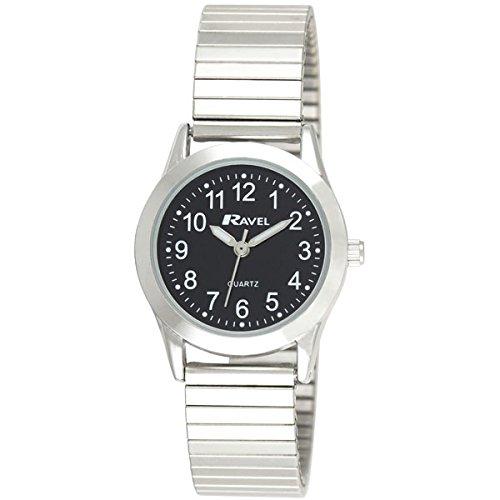 ravel-montre-bracelet-femme-noir-cadran-rond-argent-extenseur-r0230032