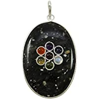 Harmonize Turmalin Oval Form 7 Chakra Anhänger Spirituelle Reiki Heilung Kristall Locket preisvergleich bei billige-tabletten.eu
