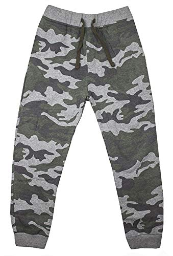b7462341f Ex Chain-store Army Camo Camouflage Ribbed Cuff Tracksuit Bottoms Sports  Gym Joggers for Boys