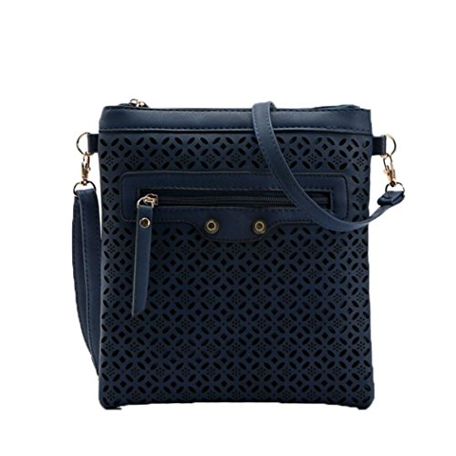 BZLine® Frauen Messenger Bags Small Hollow Taschen Ladies Umhängetasche, 22cm *1cm *24cm Blau