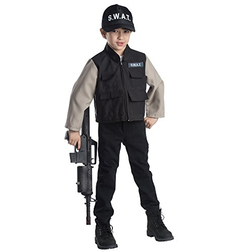 ge Helden Kind SWAT Team Rollenspiel Set Kostüm Alter 3-6 (Team America Halloween-kostüme)