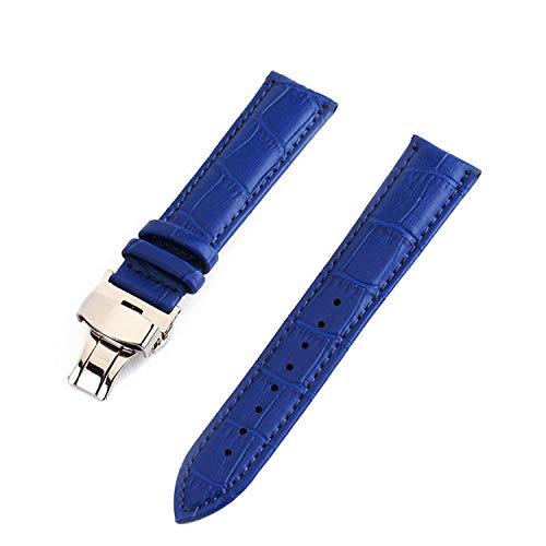 Armband 18mm 19mm 20mm 21mm 22mm 24mm Kalbsleder Uhrenarmband Damen Butterfly Schnalle Uhrenarmbänder Strap Genitalsit-Watchstrap-Lins1397 Zubehör -
