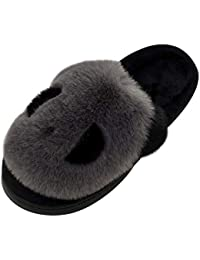 Panda Zapatillas de Estar por Casa Mujer Invierno Zapatos