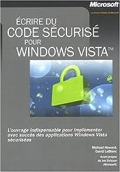 Ecrire du code sécurisé pour Windows Vista