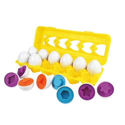 STOBOK 12 Pcs Ei Puzzle Spielzeug Osterei Kinder Eier Spiel Passenden Eier Formen und Farben Lernspielzeug Geschenk