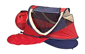 NSAuk Deluxe Travel Centre & Travel Cot - Red