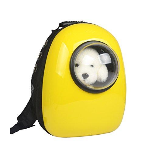Bild: HaustierRucksackheraus beweglicher doppelter SchulterBeutelHundehundtragender BeutelKastenBeutelCatwalkHaustierTasche HaustierTasche  farbe  Gelb
