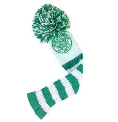 Celtic FC headcover für fairway mit pompom,, golf fairway headcover- Pompon-design mit Zahl tags- ca. 38 cm lang in einer Tasche aus Offizielles Fußball-Merchandising-Produkt