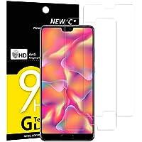 NEW'C PanzerglasFolie Schutzfolie für Huawei P20, [2 Stück] Frei von Kratzern Fingabdrücken und Öl, 9H Härte, HD Displayschutzfolie, 0.33mm Ultra-klar, DisplayschutzfolieHuawei P20