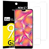 NEW'C Verre Trempé pour Huawei P20,[Pack de 2] Film Protection écran - Anti Rayures - sans Bulles d'air -Ultra Résistant (0,33mm HD Ultra Transparent) Dureté 9H Glass
