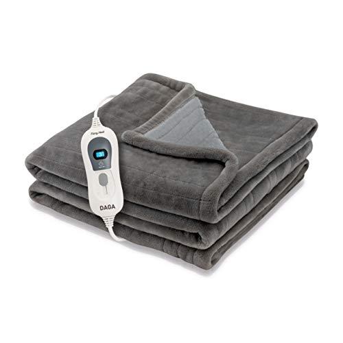 Daga Manta Eléctrica Flexy Heat Softy Fleece, Gris Oscuro, 150 X 100