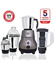 Inalsa Amaze 750-Watt Mixer Grinder with 3 Stainless Steel Jars & 1 Blender Jar with Fruit Filter
