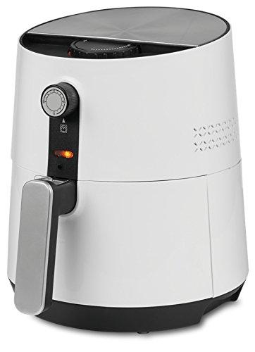 MEDION MD 17769 Heißluftfritteuse/1300 Watt/ölfreies Frittieren/Temperaturkontrolle bis 200°C/Cool-Touch-Griff/weiß