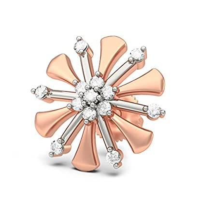 BlueStone 14K Rose Gold and Diamond Quilo Earrings