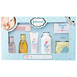 Johnson'S Baby Care Collection with Organic Cotton Bib