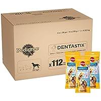 Pedigree - Barritas Dentastix para perros, 4x4x(7pc/270gr)= 4,32 kg .112 ud diaria para higiene oral