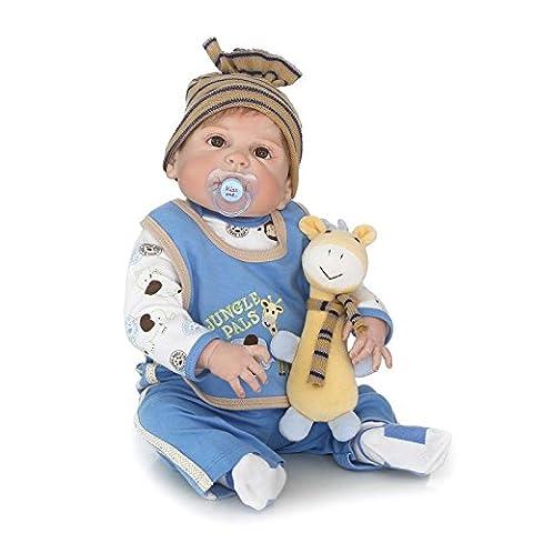 nicery Reborn Baby Doll High Vinyl 55,9cm 56cm magnetisch Mund lebensechte Vivid Wasserdicht Boy Girl Spielzeug (3 Lb Paket)