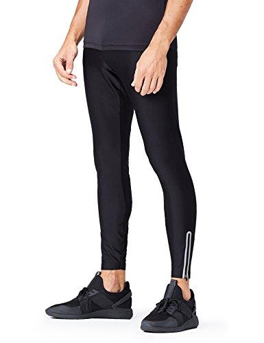 FIND Leggings Deportivos para Hombre, Negro (Black), X-Large
