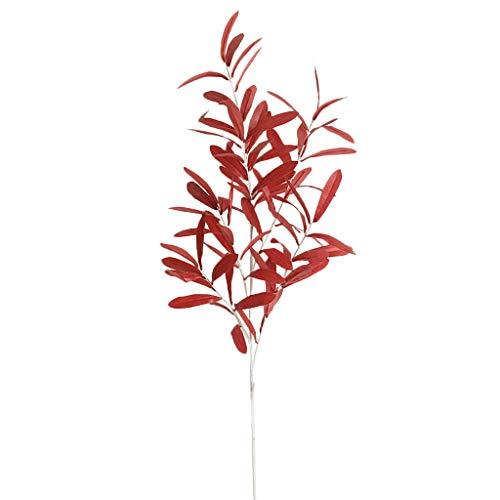 SuperSU Kunstblumen ►▷ 1 Stück kunstpflanzen Olivenblatt/Einzel-Zweig Gefälschte Blumen/Blumenschmuck/kunstblumen/Hochzeit Wohnzimmer Hotel DIY Dekoration/Party Dekoration