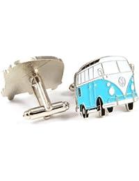 Gemelolandia - Gemelos furgoneta vw hippie, color azul