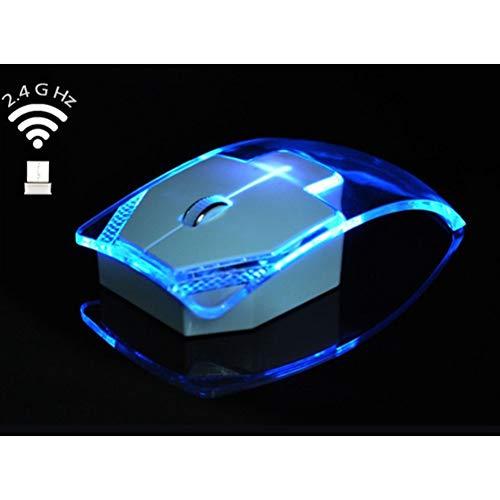 Mobestech Optische Funkmaus aus Transparent Beleuchtung 2.4G 3 (Transparent)