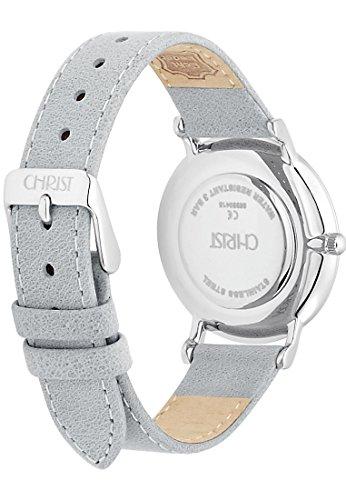 CHRIST times Damen-Armbanduhr Analog Quarz One Size, weiß, silber -