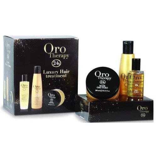 GOLD shampooing de thérapie 250ML ELIXIR 100ML + + MASQUE 300ML