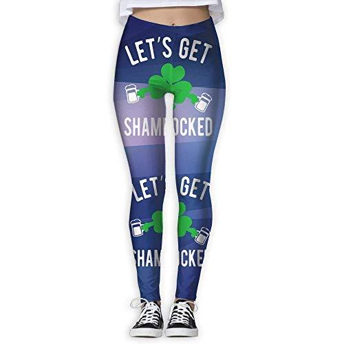 Yogahosen, Trainingsgamaschen,Let's GET Shamrocked St Patty's Day Women's Slim Workout Full Length Yoga Pant Skinny Leggings Pants