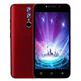 oasics Smartphone, xbo x9 3G LTE Android 7.0 Handy Smartphone 2 SIM 4GB WiFi 5MP AT & T (Rot)