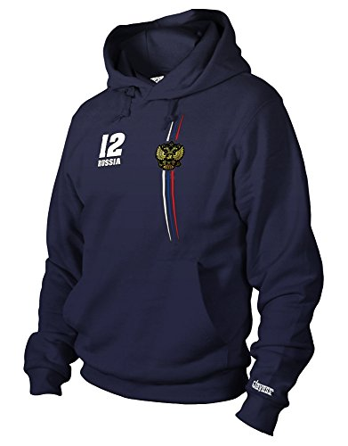 RUSSIA DIGITAL - RUSSLAND WM 2018 - HERREN UND DAMEN - HOODIE in Navy Gr. M