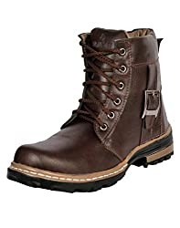 Prolific Men Synthetic Leather Casual Boot Brown