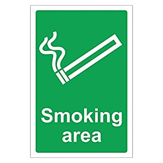 Safety First Aid Group Smoking Area Sign ( 20 x 30 cm)