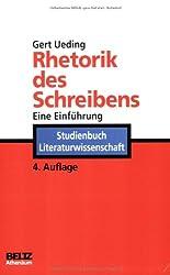 Rhetorik des Schreibens (Athenäums Studienbücher Literaturwissenschaft)