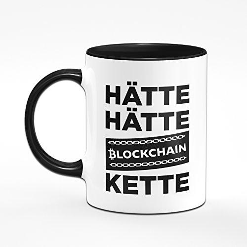 Tasse HÄTTE HÄTTE BLOCKCHAINKETTE Kaffetasse Bitcoin, Etherum, Litecoin - Blockchain - Kryptowährung