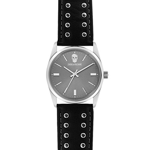 Zadig & Voltaire Unisex Date Quartz Watch with Leather Bracelet – ZVF240