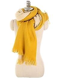 d3497db77923 Nordira Foulard pour Femme, Double Couleur Pompons Automne Hiver Outdoor  Doux Chaud Longue Écharpe