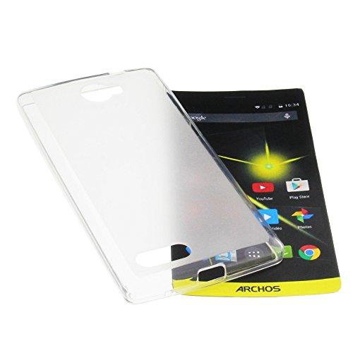 foto-kontor Tasche für Archos 50 Diamond Gummi TPU Schutz Handytasche milchig transparent