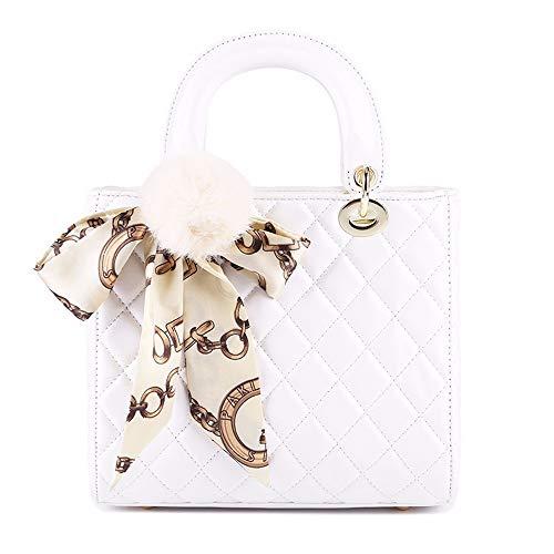 PENG Damen - Handtasche schal Haar Eier - (23cm11cm21cm),weiße