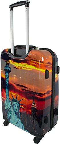 ABS Hartschalen Kofferset mit Motiv Statue Of Liberty