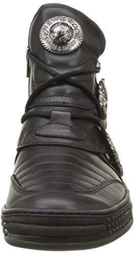 New Rock M Ps049 S1, Espadrilles Homme Noir (Black)