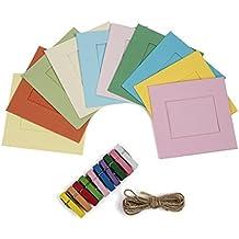 Polaroid - Marcos cuadrados estilo vintage para papel zink 2x3 (snap, zip, z2300)