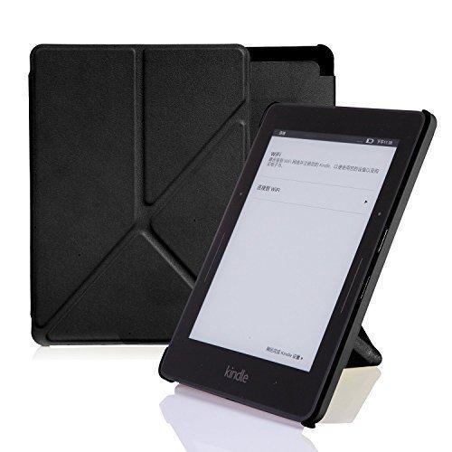 Nouske Custodia Origami per Kindle Paperwhite Voyage di Amazon nero nero Kindle Voyage (7th Generation)