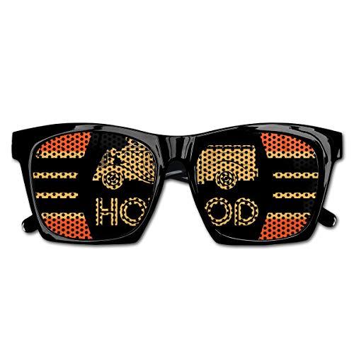 EELKKO Mesh Sunglasses Sports Polarized, Hot Rod Grunge Poster Design with Custom Truck Americana Vintage Engine,Fun Props Party Favors Gift Unisex