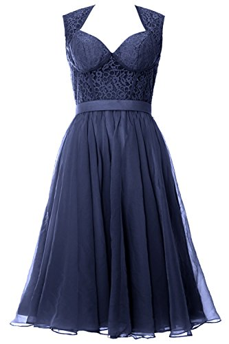 MACloth - Robe - Trapèze - Sans Manche - Femme Bleu - Dunkelmarine