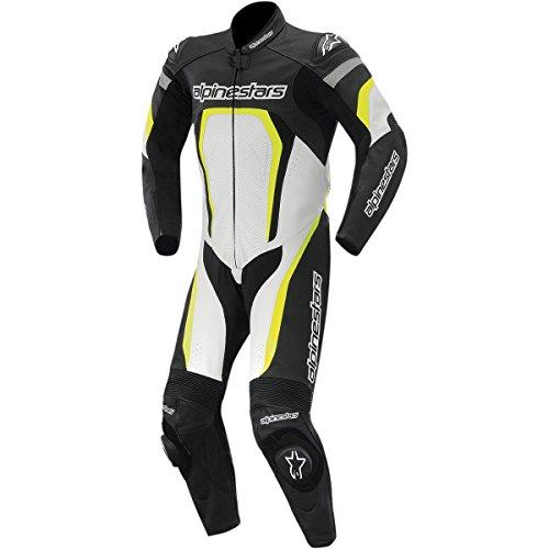 Alpinestars Combinaison de moto en cuir pour motard Noir/blanc -  multicolore - 50