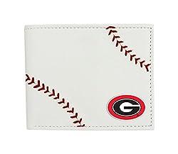 NCAA Georgia Bulldogs Leather Wallet, White