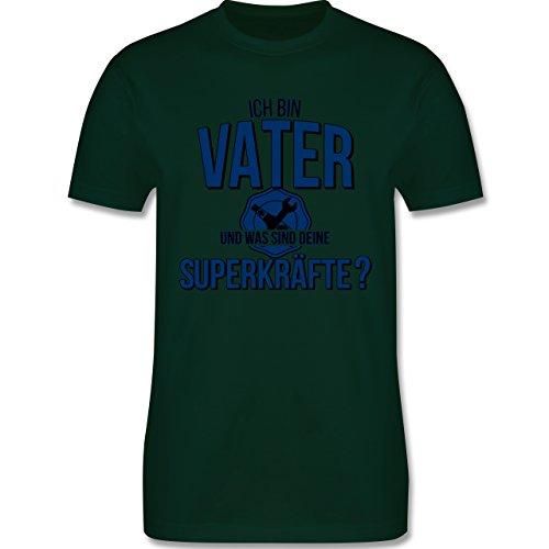 Vatertag - Ich bin Vater - Was sind deine Superkräfte - Herren Premium T-Shirt Dunkelgrün