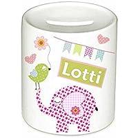Spardose, Elefant, mit Namen, für Kinder, Geschenk, Geschenk Taufe, Sparschwein, Geldgeschenke,